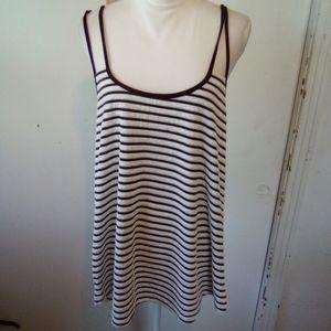 Banabee plus striped top size 2X